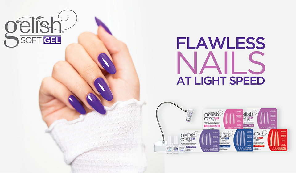 Gelish Soft Gel. Flawless nails, at ligth speed