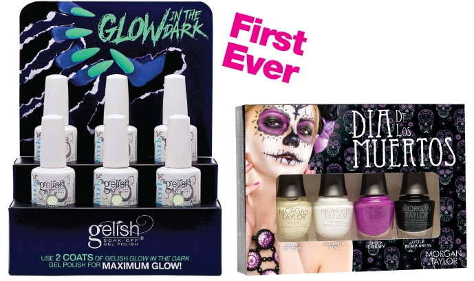 Dia de los Muertos and Gelish Glow Soak-Off Gel