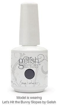 Model is wearing Let's Hit the Bunny Slopes by Gelish