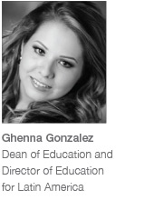 Ghenna Gonzalez, Dean of Education and Director of Education for Latin America