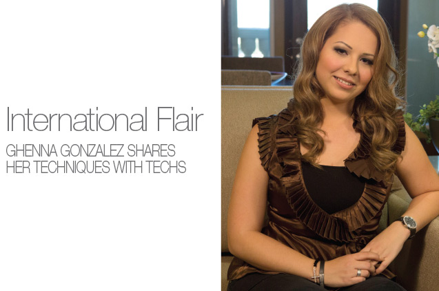 International Flair - Ghenna Gonzalez shares her techniques with techs