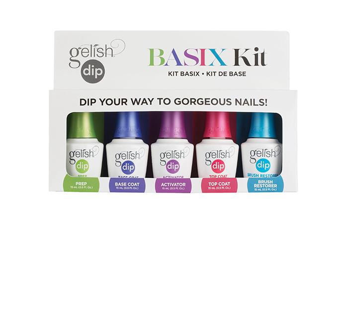 Basix Kit - Includes 1 of each essential products:<br><br> • Prep<br> • Base<br> • Activator<br> • Top Coat<br> • Brush Restorer