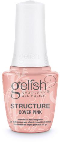 Cover Pink Brush-On Structure Gel - Reinforces strength, enhances nail, or repairs damaged nail plate. Remove with Artificial Nail Remover. Cures for 30 seconds in the 18G LED light.
