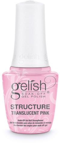 Translucent Pink Brush-On Structure Gel - Reinforces strength, enhances nail, or repairs damaged nail plate. Remove with Artificial Nail Remover. Cures for 30 seconds in the 18G LED light.
