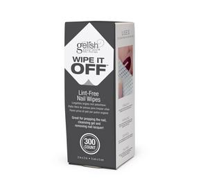 Wipe It Off Lint-Free Wipes - 300CT - Ideal for removing nail lacquer, gel residue, and cleaning brushes.
