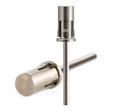 1310401 Loxo Mandrel - Made of stainless steel with built in anti-slip technology. The bit is versatile as it fits sanding bands with a wide range of grits. The Loxo Mandrel assists with prepping the natural nail, shortening the length of nail enhancements, finishing the surface and cuticle area of an enhancement and redefining the C-Curve.