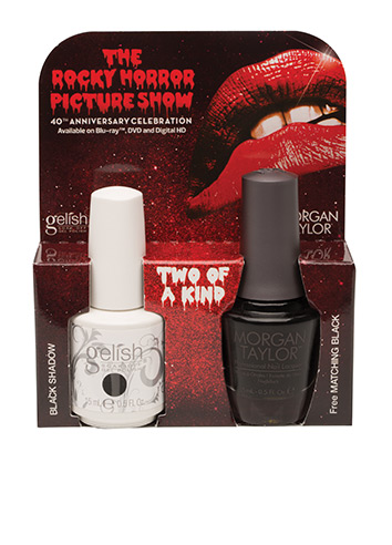 1100014 Two of A Kind Black Shadow - INCLUDES: <br /> <table> <tr> <td>(1) 15 mL. - 5 Fl. Oz. Gelish Black Shadow</td></tr><tr><td>(1) 15 mL. - 5 Fl. Oz. Morgan Taylor Matching Black</td> </tr>  </table>