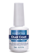 Dual Coat - Designed to protect the nails from discoloration from UV rays. It is sure to reflect the healthy appearance of pink & white nails or enhance the bright colors of any acrylic. Dual Coat will air dry in 90 seconds to a hard-plastic finish on any type of artificial nail.