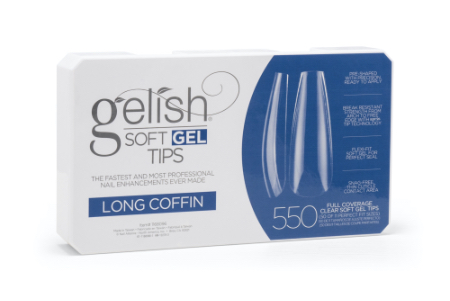 Soft Gel Tips - Long Coffin