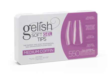Soft Gel Tips - Medium Coffin